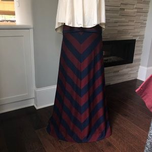 Hive and Honey High Waisted Chevron Skirt